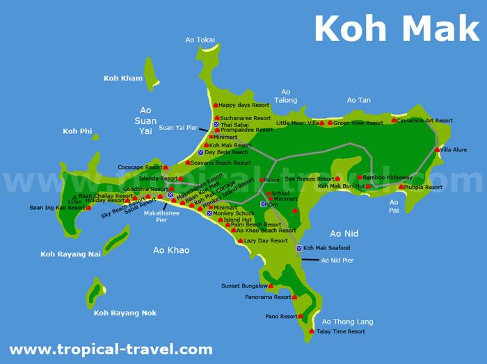 map of Ko Mak