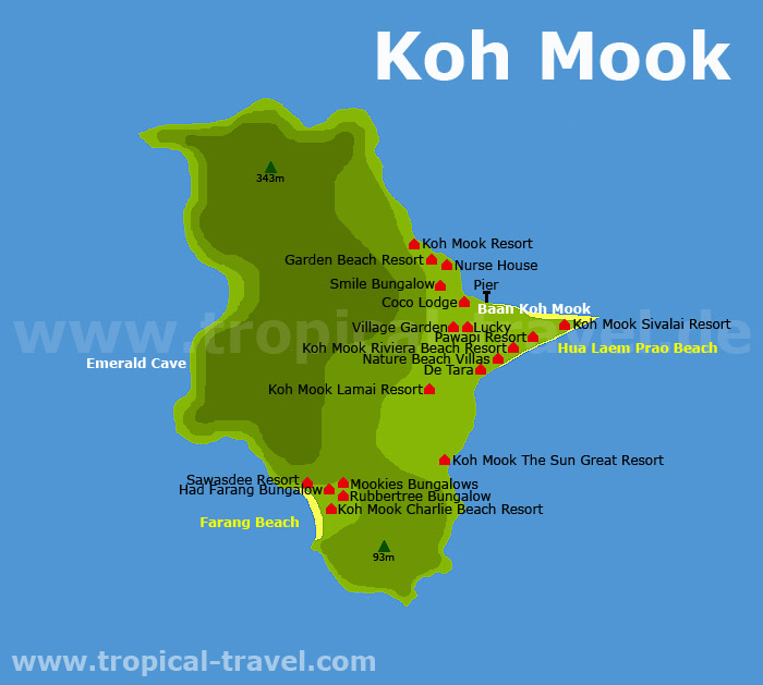 Koh Muk map