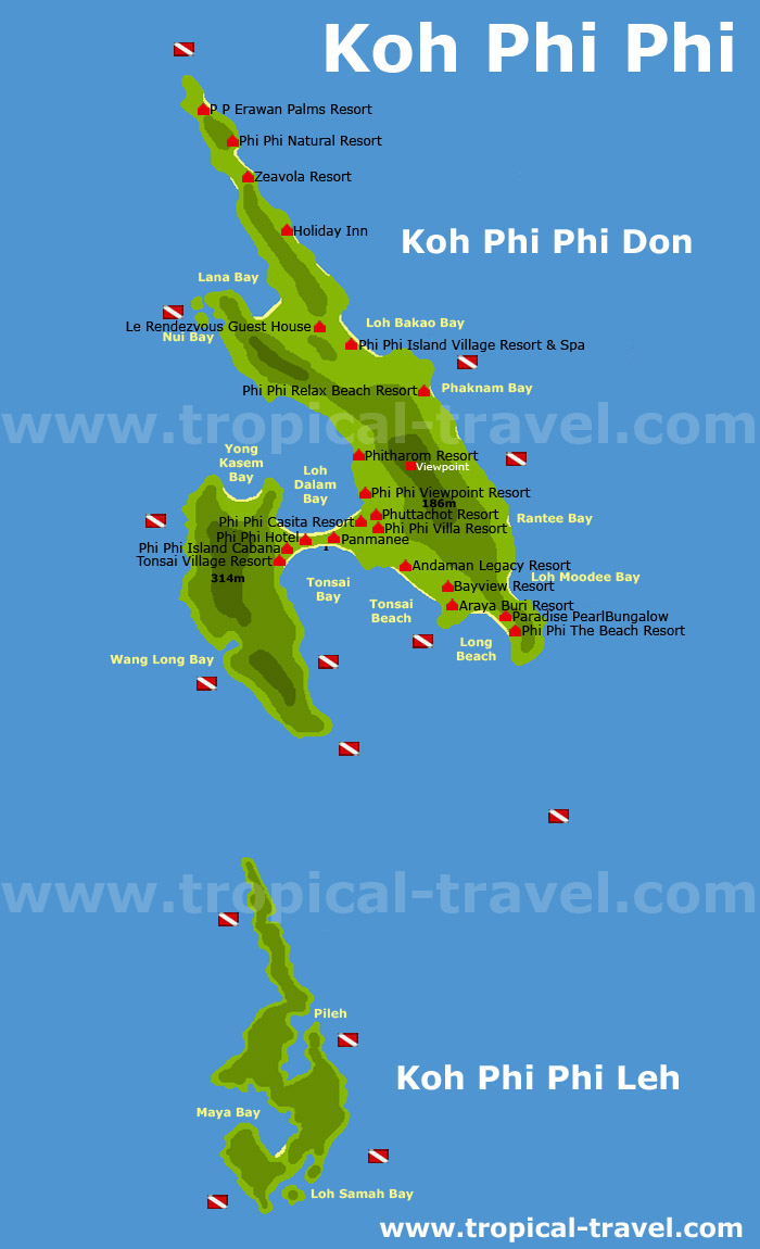 Koh Phi Phi map