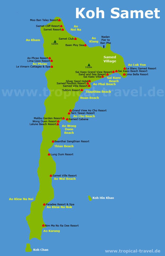 Koh Samed map