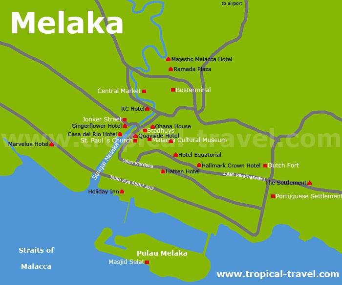 Melaka Karte
