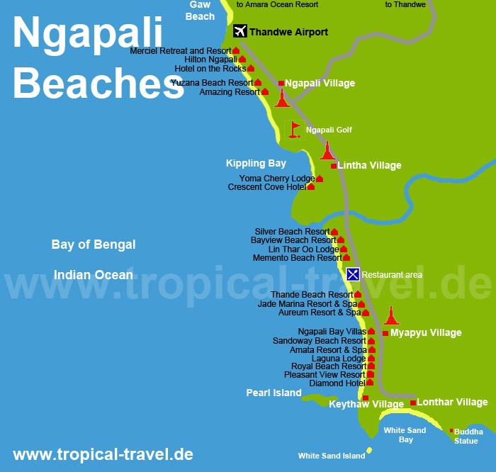 Ngapali Beach Myanmar Tropische Reiseorte Online