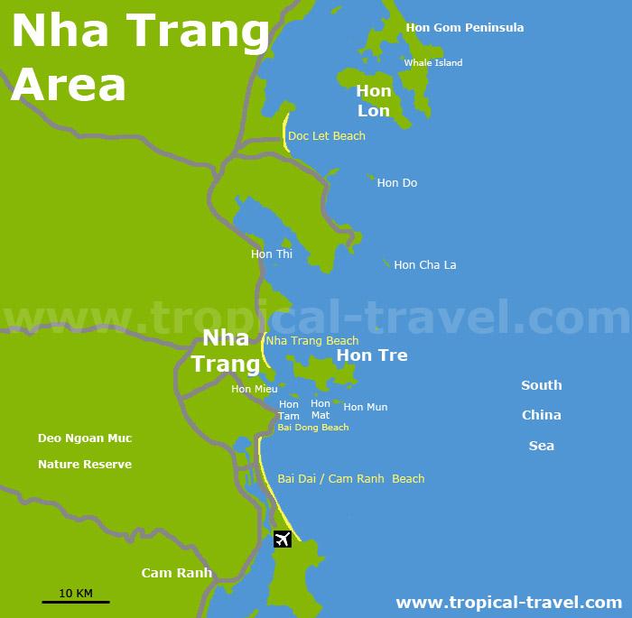 Nha Trang Umgebungskarte