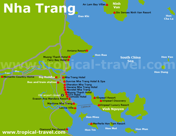 Nha Trang Karte