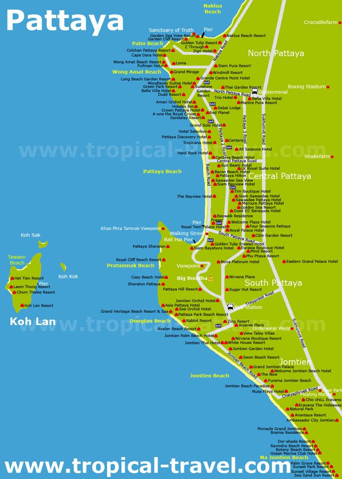 Pattaya Karte