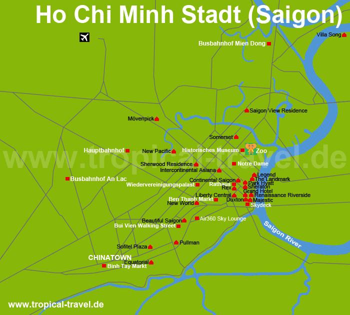 Saigon Karte
