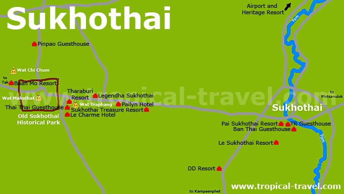 Sukhothai Karte