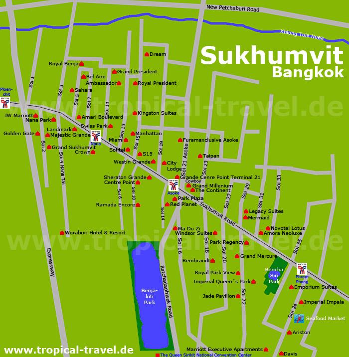 Bangkok Karte.Hotelkarten Inselkarten Spezialkarten Online Reiseführer