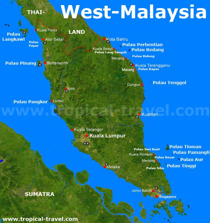 West-Malaysiakarte