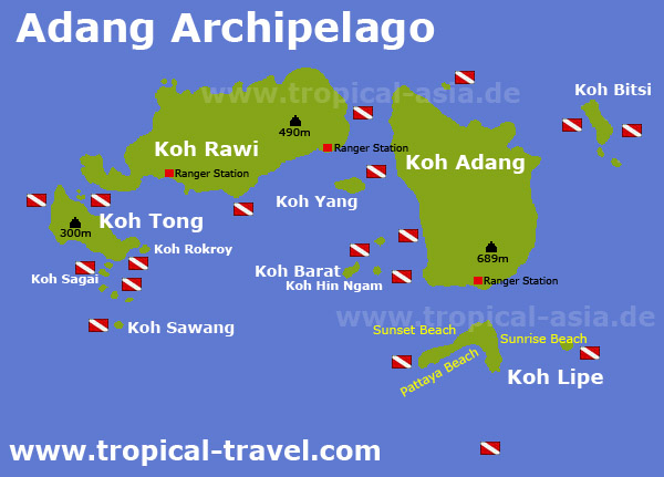 Koh Adang map