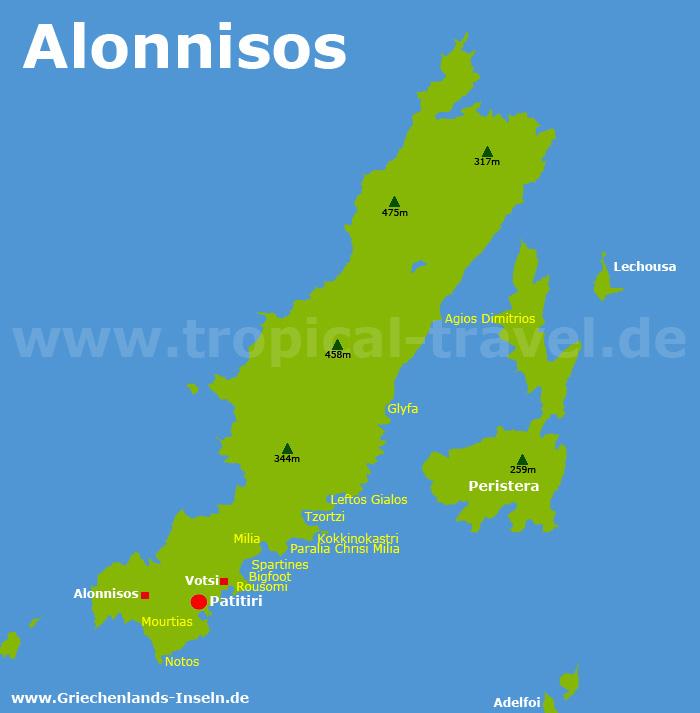 Alonnisos Karte