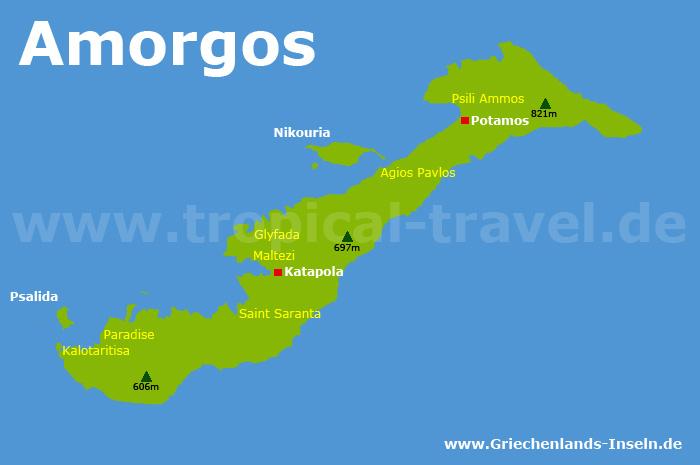 Amorgos Karte