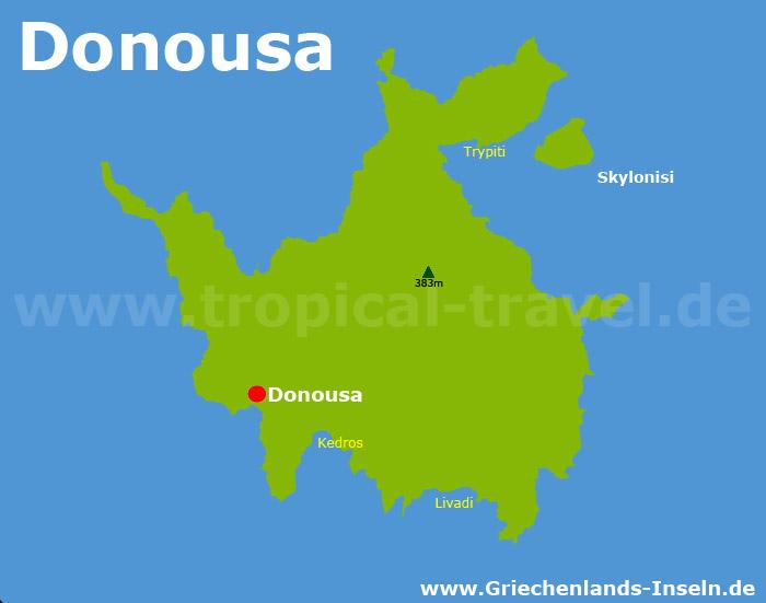 Donoussa Karte