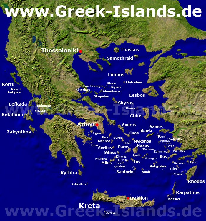 Griechenland S Inseln Inseln Und Inselgruppen Im Uberblick