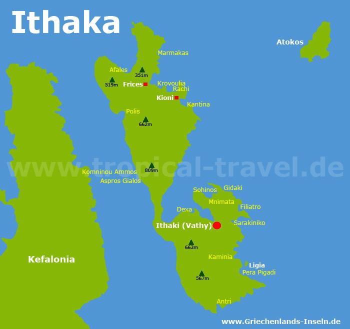 Ithaka Karte