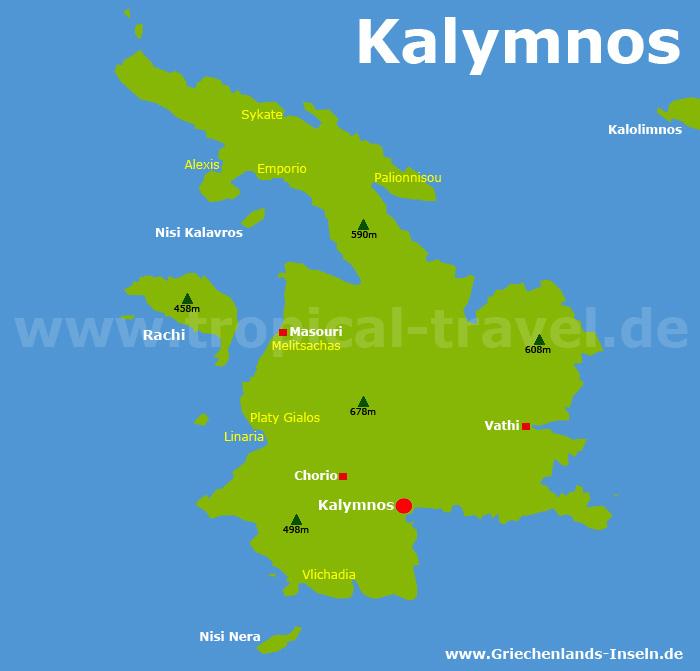 Kalymnos Karte