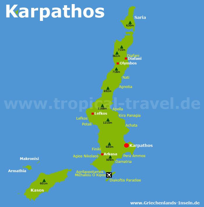 Karpathos Karte