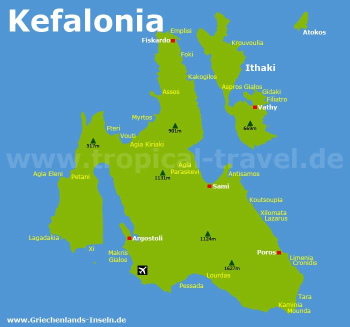 Kefalonia Karte