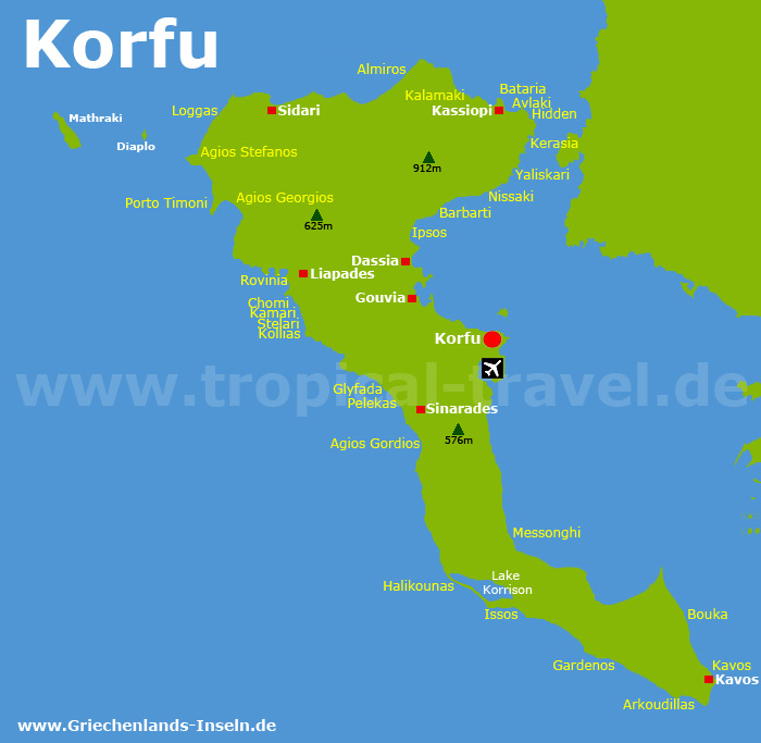 Korfu Karte