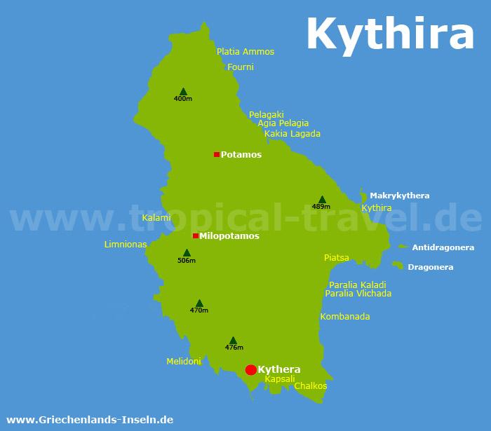 Kythira Karte