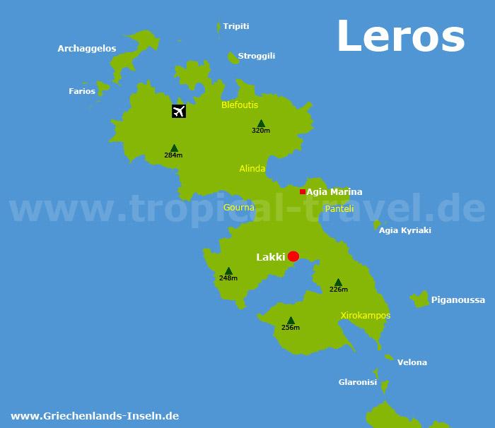 Leros Karte