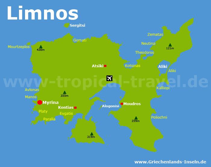Limnos Karte