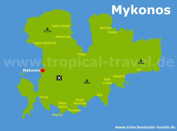 Mykonos Karte
