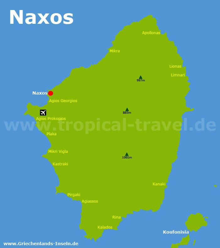 Naxos Karte