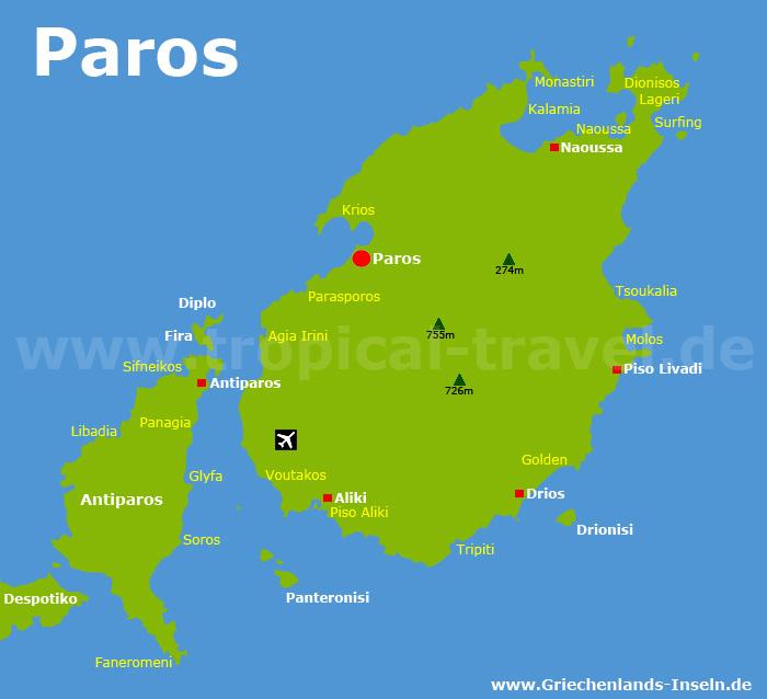 Paros Karte
