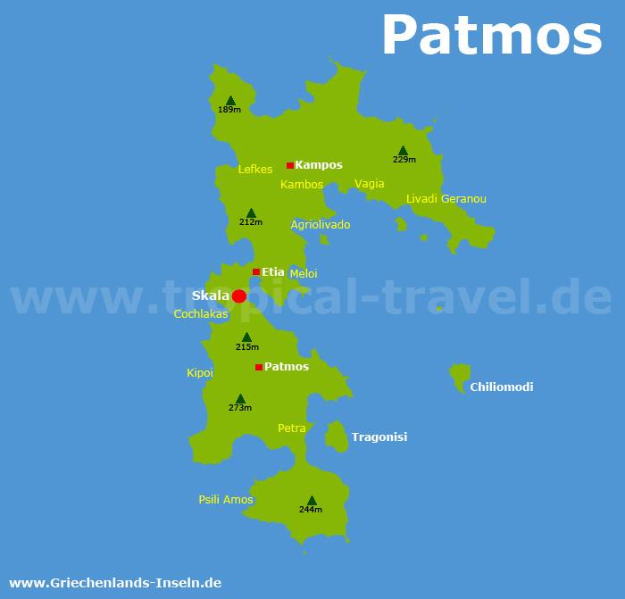 Patmos Karte