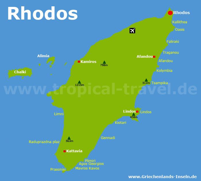 Rhodos Karte.Rhodos Dodekanes Anreise Strände Hotels Griechenland S Inseln