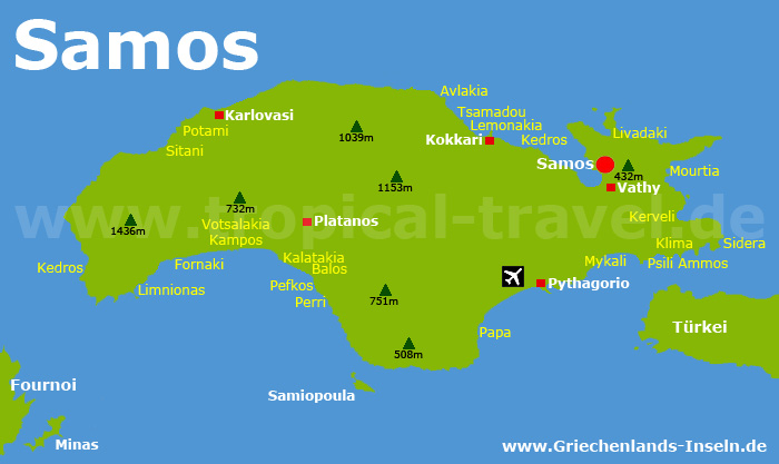 Samos Karte
