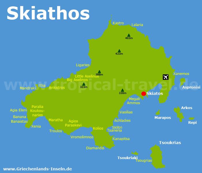 Skiathos Karte