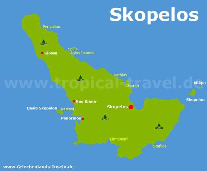Skopelos Karte