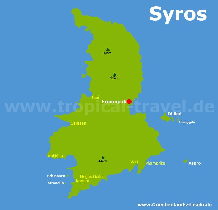 Syros Karte