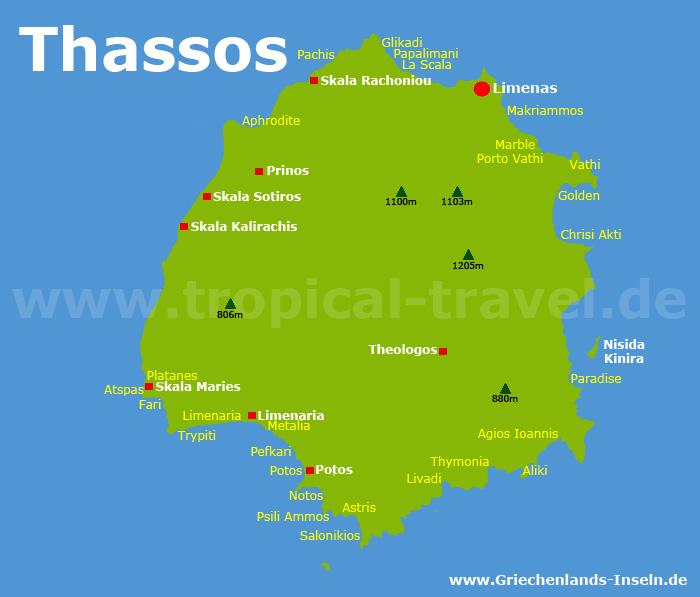 Thassos Karte