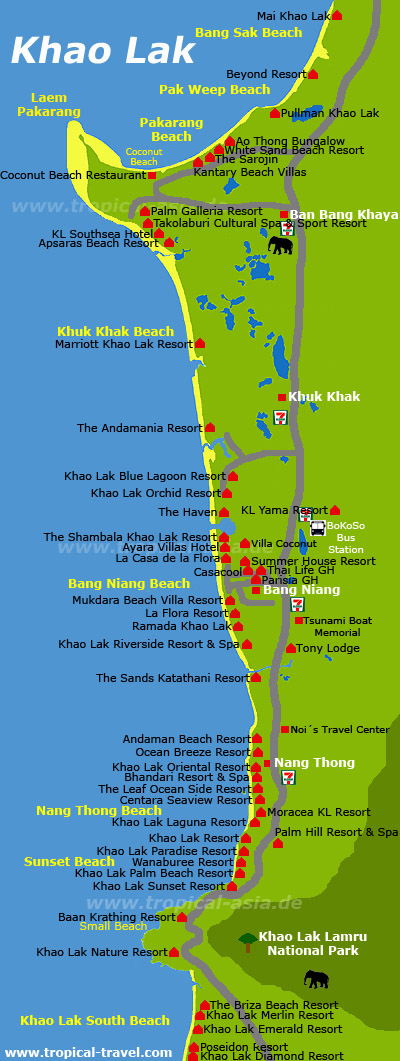 Khao Lak Karte