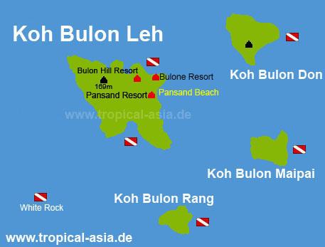 Koh Bulon map