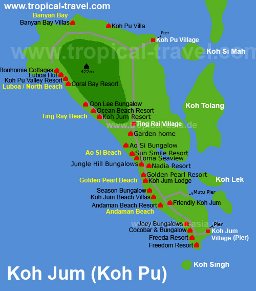 Koh Jum (Koh Poh) - Krabi-Islands.com - welcome to the world of Krabi islands...