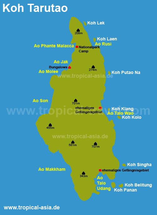 Koh Tarutao map