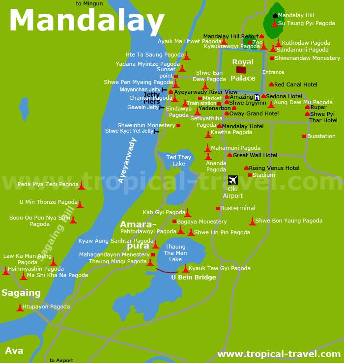 Myanmar travel guide Mandalay hotel booking