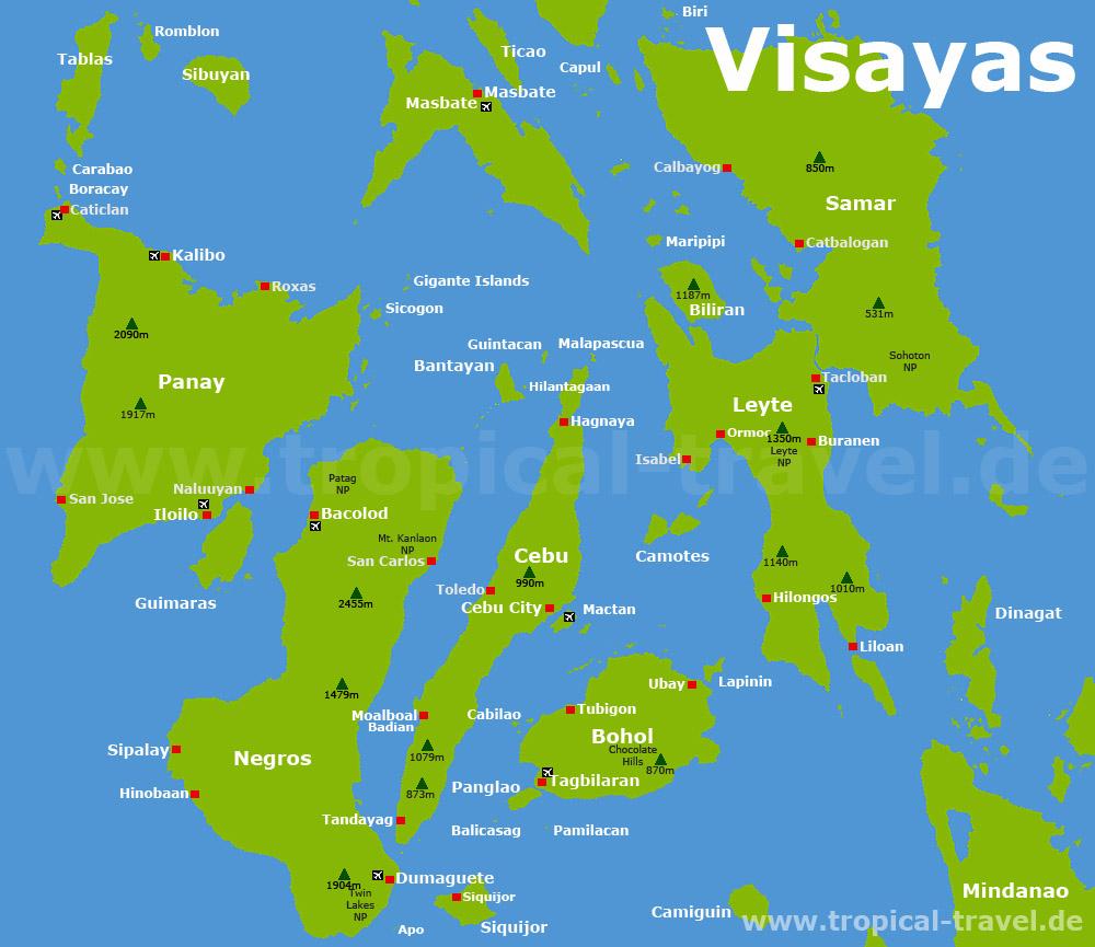 Karte Philippinen.Philippinen Die Schönsten Reiseziele Der Philippinen