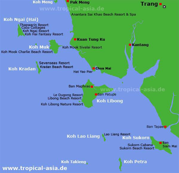 Trang Inselkarte