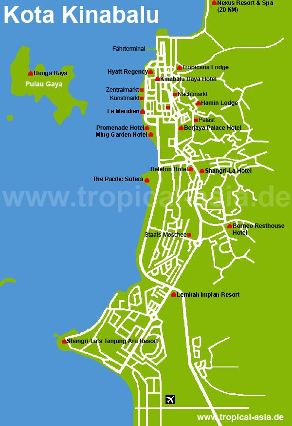 Kota Kinabalu Karte
