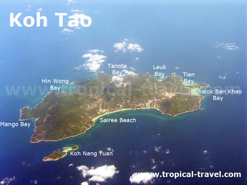Koh Tao aus der Luft