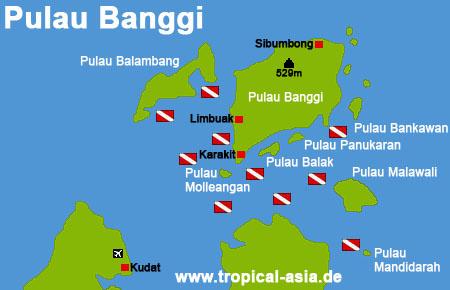 Pulau Banggi Karte