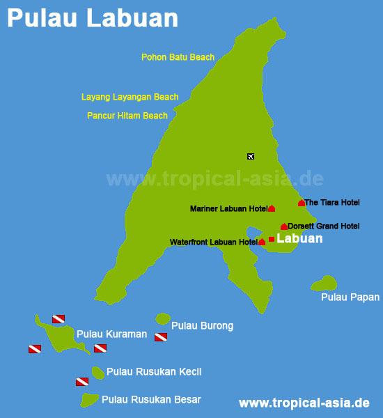 Pulau Lanuan Karte