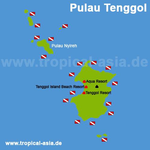 Pulau Tenggol Karte