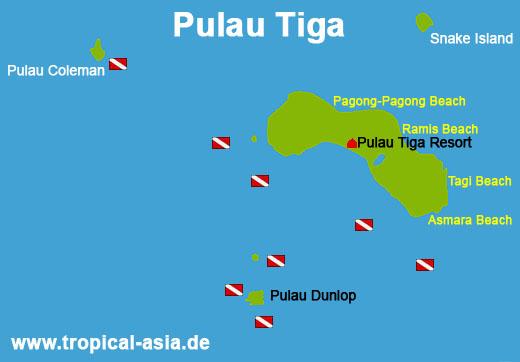 Pulau Tiga Karte